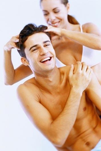 massage tête couple